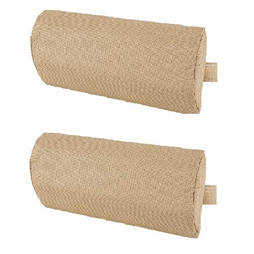 Universal Replacement Pillow headrest for Zero Gravity Chair with Elastic Band, Neck Pillows for Chair, Lounge Chair (Beige, 2pcs)