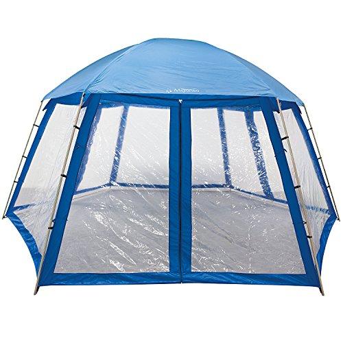 Miganeo Premium-Pavillion 600x520x280 cm zb. für Pool Zelt Metall Partyzelt Gartenpavillion 036425GH