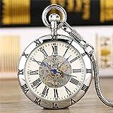 LYMUP Reloj de Bolsillo, Oro/Plata números Romanos Mostrar Cara...