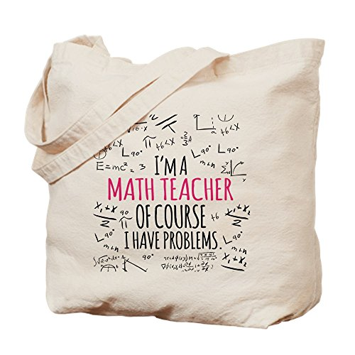CafePress Tragetasche für Mathematiklehrer mit Problemen, canvas, khaki, M