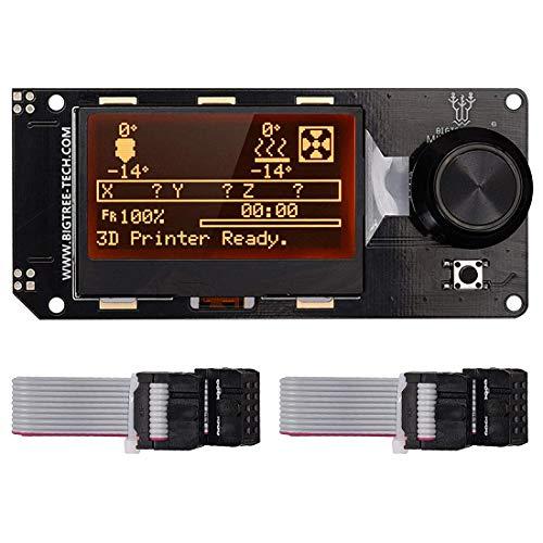 Mini12864 LCD Gráfico Smart Display Panel de control con adaptador y cable...