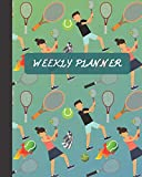 Weekly Planner: Tennis Sports Cover 8x10' 120 Pages/60 Weeks Checklist Planning Undated Organizer & Journal - Christmas Gifts