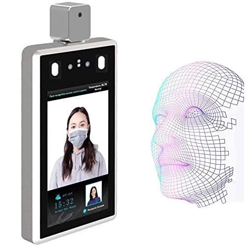 XLNB 7 Pulgadas Sistema De Medición De Temperatura De Reconocimiento Facial, Termómetro Infrarrojo Sin Contacto para Entrada/Salida De La Industria De La Oficina