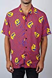 NEFF Men's Daily Button Up Hawaiian Style Patterned Pool Side Shirt, Warped Smiley, XX-Large