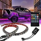 Greyghost RGB LED Strip Under Car Tube Underglow Underbody System Neon Light Kit Remote Control