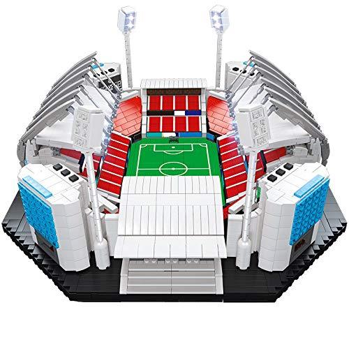 Estadio de Fútbol para Niños Construcción 4654pcs Arquitectura Edificios Bloques de Fútbol Deportes Creador Atleta Figuras Piezas Juguetes