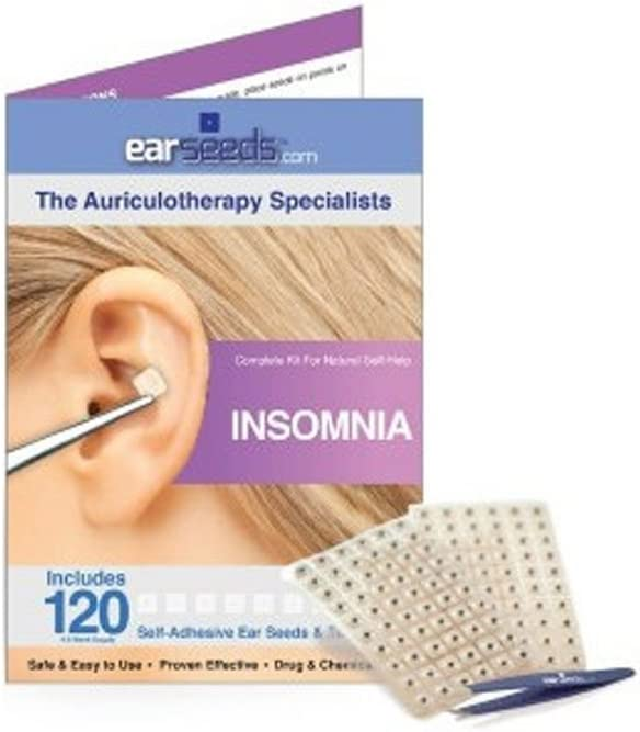 Insomnia Inexpensive Ear Seed Our shop OFFers the best service Kit- 120 Steel Seeds Tweezer Stainless