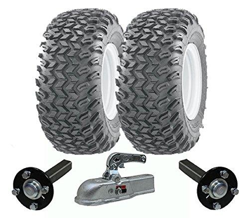 juego de remolque ATV Quad de alta resistencia - remolque - ruedas Wanda + Steelpress producción ejes concentrador / stub, fundido deber de enganche pesada 900kg