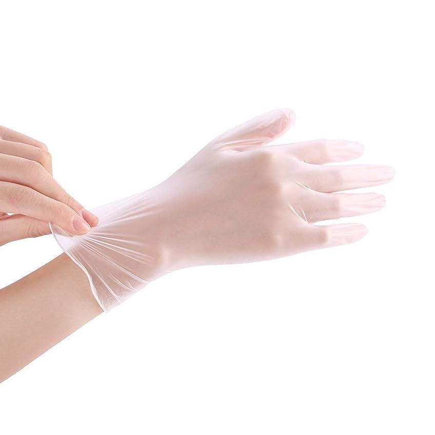 診断するおばさん迷惑使い捨て透明食品ケータリンググレードPVC手袋美容キッチンベーキングフィルム手袋200 YANW (色 : トランスペアレント, サイズ さいず : L l)
