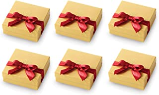 Godiva Gold Favor Chocolate Gift Pack, with Red Ribbon - Assorted Chocolates Gift Box - Perfect for Party Favors, Stocking Stuffers, Holiday Gifts (6-Pack)