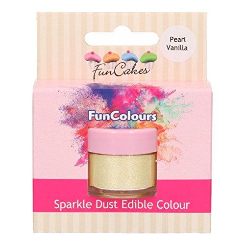FunCakes Edible FunColours Sparkle Dust - Pearl Vanilla- Polvo Colorante Brillante Alimentario Para Decoración de Pasteles, Certificado Halal