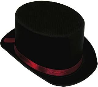 Black Satin Top Hat - Adult Std.