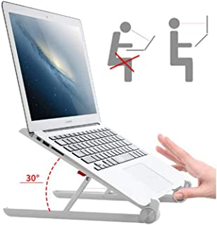 ZRM Laptop Stand - JUBOR Adjustable Laptop Stand Portable Foldable Ergonomic Desktop Stand Holder Mount for MacBook Notebook Computer PC iPad Tablet