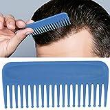 Peine ancho, peine de dientes anchos para el cabello sin mango, desenredante del cabello, alisado, rizado, cabello húmedo y seco para salón y hogar(azul)