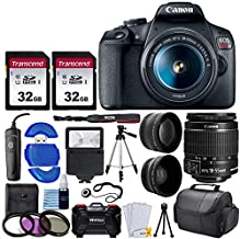 $449 » Canon EOS Rebel T7 Digital SLR Camera with 18-55mm EF-S f/3.5-5.6 is II Lens + 58mm Wide Angle Lens + 2X Telephoto Lens + Flash + 2X 32GB SD Cards + 3 Piece Filter Kit + Tripod + Full Accessory Bundle