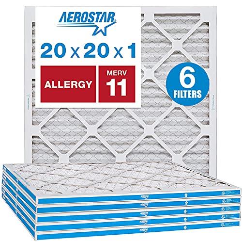 Aerostar Allergen & Pet Dander 20x20x1 MERV 11...