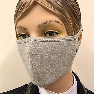 100% katoen mondkapje grijs (3 lagen, wasbaar)