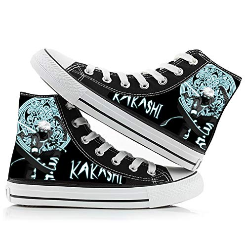 ZGRNB Naruto High Top Canvas Shoes Student Anime Hombres y Mujeres Pareja Graffiti Zapatos Tamaño 35-44