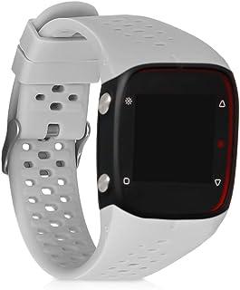 kwmobile Pulsera Compatible con Polar M400 / M430 - Brazalete de Silicona en Gris sin Fitness Tracker
