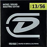 Cordes pour guitare électrique Dunlop DEN1356 Extra Heavy 13-56 Nickel