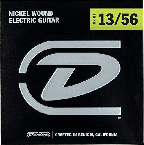 Dunlop DEN1356 Nickel Wound Electric Guitar Strings, Extra Heavy, .013–.056, 6 Strings/Set