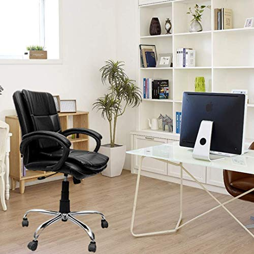 Caddy Office Chair for Computer Table Chair with Back Support Adjustable Home Desk Study Chair for Office(Black) (DM82)