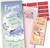 Eeyore Official 2022 Slim Calendar and Winnie The Pooh Pocket Diary Gift Set Bundle with Free Organising Stickers