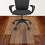 Azadx 30' X 48' Office Chair Mat, Transparent Hard Floors Protector with Lip, Home Office Chair Mats for Hard Surfaces (30 x 48'' with Lip)
