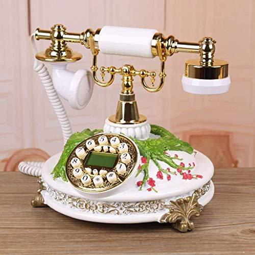 YUBIN Teléfono Teléfono Inicio Teléfono Antiguo Sala de Estar Línea Retro Teléfono Decoraciones Decoraciones Adornos Artesanía Teléfono Fijo (Color: a) (Color : A)