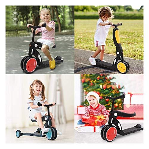 YGB Triciclo, patinetes para niños, Ajustable en Altura, magnífica deformación, Patinete, Bicicleta para Caminar, Triciclo, niños y niñas de 3 a 6 años en Cinco triciclos p
