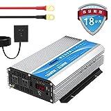 インバーター 1600W DC 12VをAC100Vへ変換 55Hz LEDディスプレイあり リモコンつき 2口の交流ソケット 2.4AのUSBポートあり GIANDEL