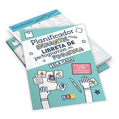 Planificador Infantil y Libreta de Pictogramas en Pegatina | Más de 1700 Pegatinas para Organizar las tareas de La Casa