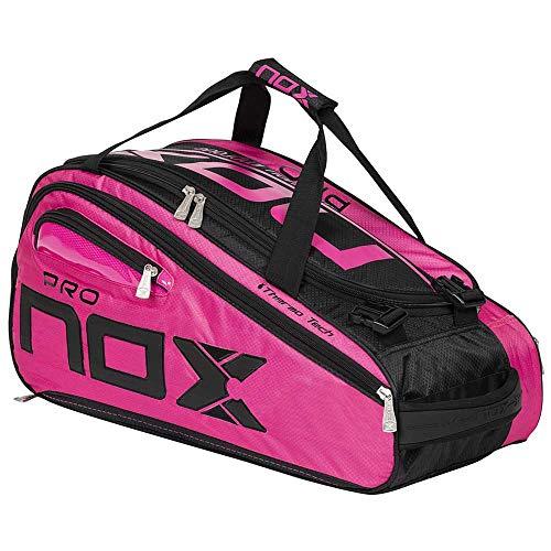 NOX Paletero Rosa, Borsa per Racchette PRO Donna, 60 x 27 x 30 cm