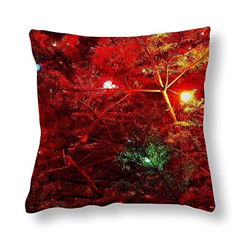 Funda de almohada con diseño de árbol