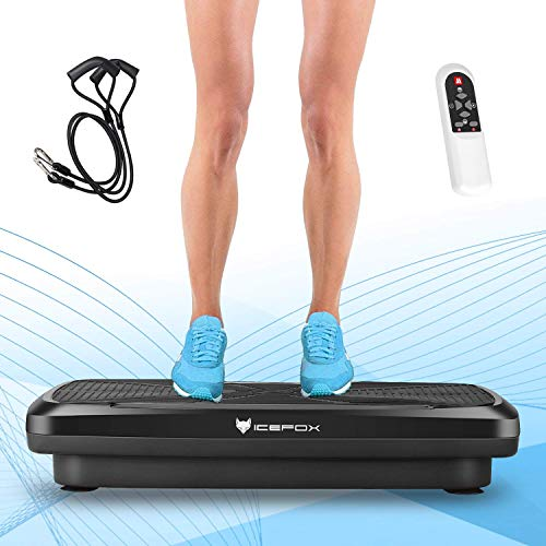 Icefox Fitness 3D Dual-Motor Vibrationsplatte mit Bluetooth 4.0 Lautsprecher / LCD Display & Fernbedienung / 9 Trainings-Programme