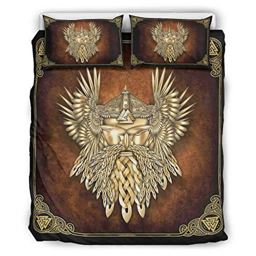 YOUYO Spark Viking Odin - Juego de cama (104 x 90 cm), color blanco