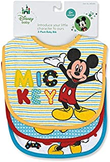 Regent Baby Product Corp Mickey Mouse Bib, White (3 Pack)