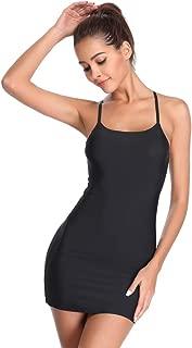 Womens Full Slips for Under Dresses Spaghetti Straps Long Cami Slip Basic Camisole Slip Dress