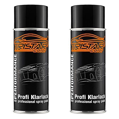 TRISTARcolor 2 x Spraydose Profi KLARLACK SEIDENMATT 400 ml Autolack Sprühdose