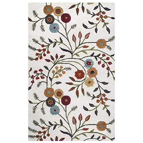 Rizzy Home Dimension White Multi Rug Rug Size: 8' x 10'