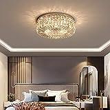 Kristall Deckenleuchte Dimmbar, luxuriös Rund Schlafzimmer Lampe 5 flammig G9 Fassung Max.40W...