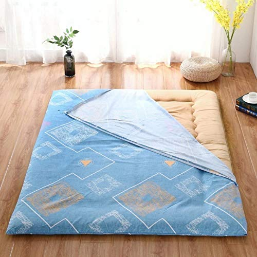 LJYY Colcha de algodón para el suelo, muy gruesa, lavable [a prueba de polvo] con cremallera para colchón de 135 x 200 cm