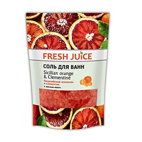 Sale da bagno profumato Arance siciliane e Clementine 500g FRESH JUICE 100% naturale idratante e rilassante
