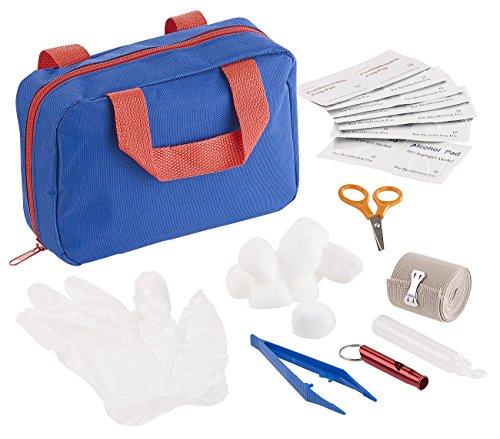 Sweetypet Verbandkasten: 32-teiliges Erste-Hilfe-Set für Hunde mit Transport-Tasche (Hunde Verbandskasten)