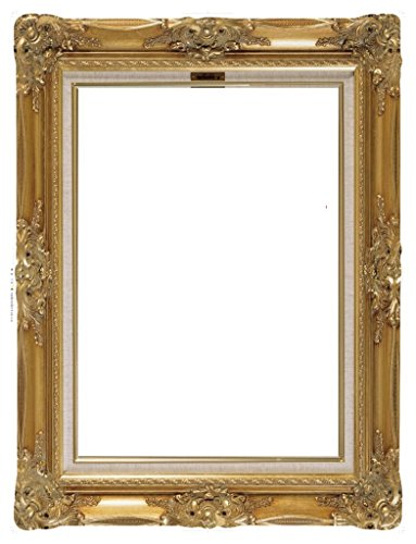 OULII DIY Paper Picture Frame Cutouts Antique Photo Booth Props for Wedding Birthday Party (Gold)