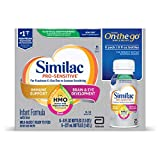 Similac Non-GMO with 2'-FL HMO Infant Formula Ready-to-Feed, 8 Fl Oz, Pro-Sensitive (Pack of 6), 4 Count