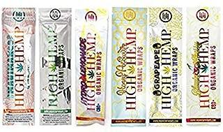 Organic Wraps - Tobacco Free, Vegan, Non-GMO! 6 Flavors to Choose from: Grape Ape, Honey Pot Swirl, Maui Mango, Original, Hydro Lemonade, and Blazin Cherry! (Variety, 30 Packs)