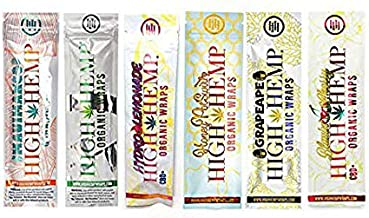 Organic Wraps - Tobacco Free, Vegan, Non-GMO! 6 Flavors to Choose from: Grape Ape, Honey Pot Swirl, Maui Mango, Original, Hydro Lemonade, and Blazin Cherry! (Variety, 30 Packs)