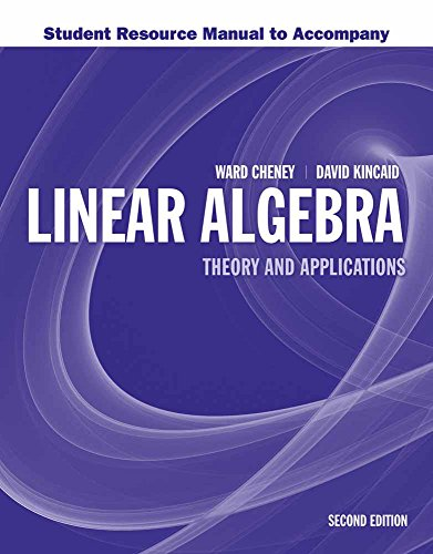 Student Resource Manual to Accompany Linear Algebra: Theory and Application: Theory and Application