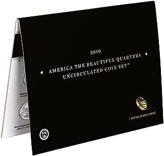 2010 D P America the Beautiful 2010 Quarters Uncirculated Coin Set UNC